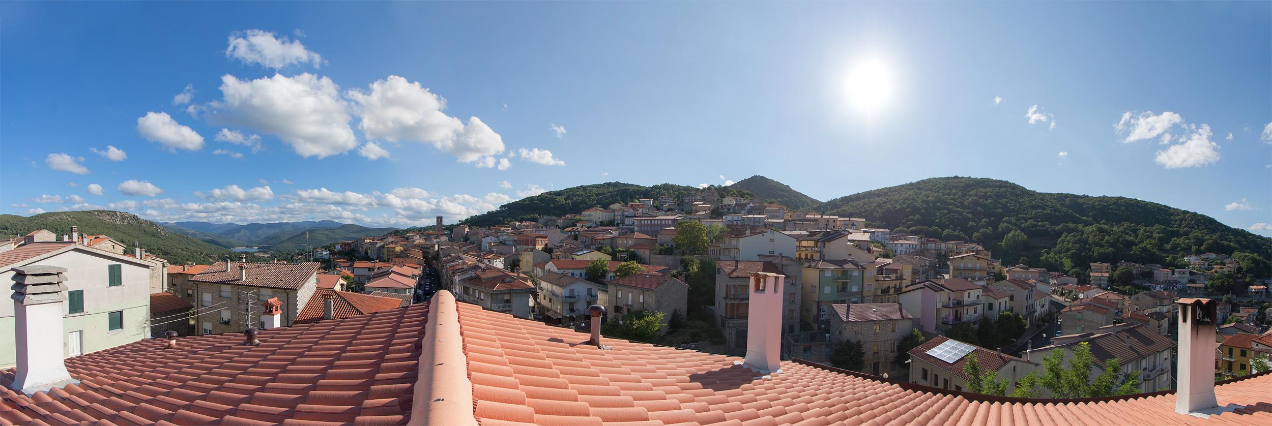 Panorama di Gavoi dal tetto